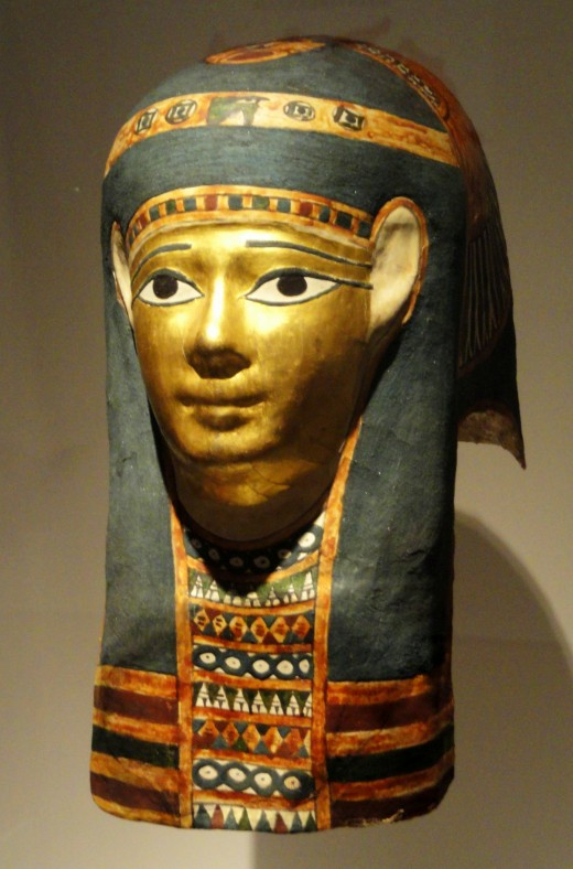 Egyptian Mummy Mask at Indianapolis Museum of Art