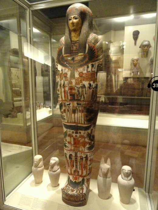 Mummy-case of Djedmaatesankh, musician, Western Thebes, Egypt, 22nd Dynasty, c. 850 BC - Royal Ontario Museum