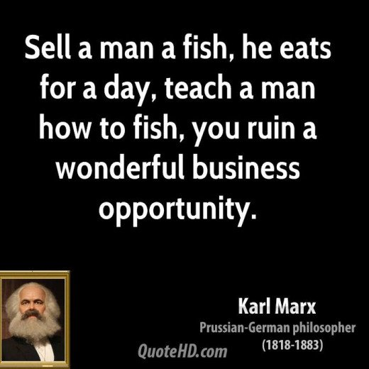 I don't know if Karl Marx said this, but it is still a great joke and explains a lot about capitalism.