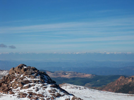 Continental Divide as seen from the Pikes Peak Summit.
