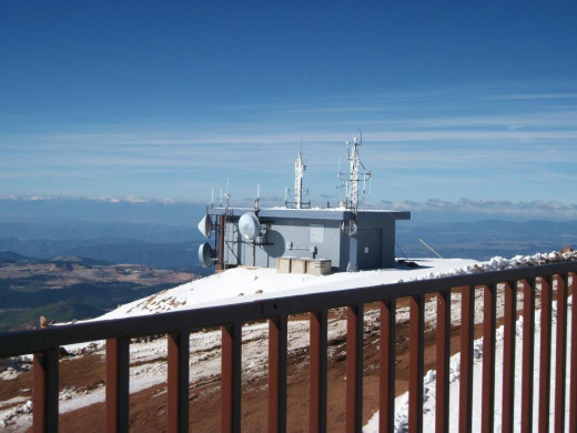 Weather station atop Pikes Peak.