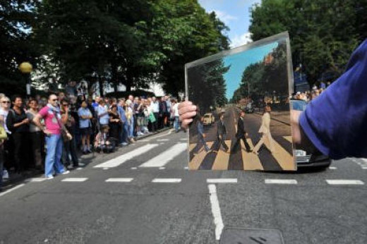 A historic site for rock music Abbey Road