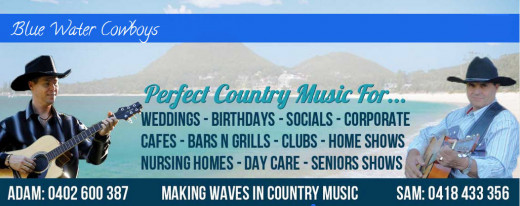 The Blue Water Cowboys are the Blue Water Country Music Festival favorites and country lovers, from far and wide come to hear them each year.