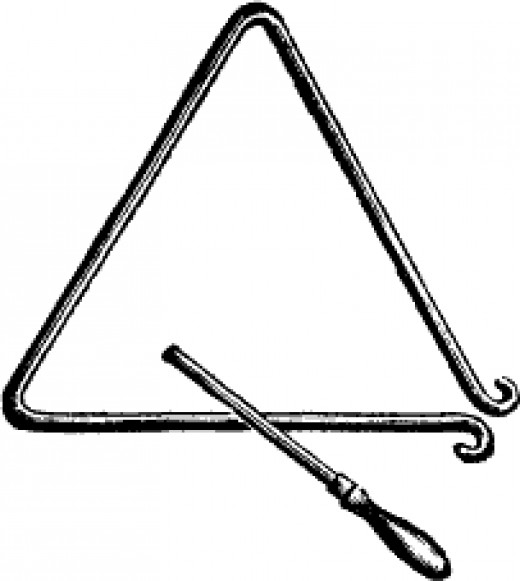 A triangle like those used on many farms and ranches to alert folks far and near.