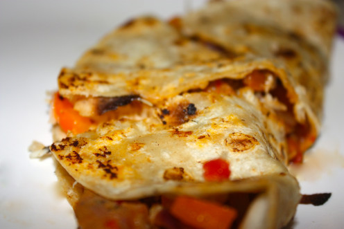 Spicy fusion quesadillas.