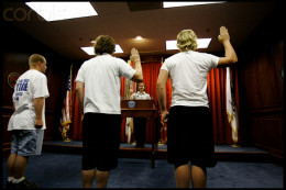 Army recruits take a solemn oath to defend our constitution, country and flag