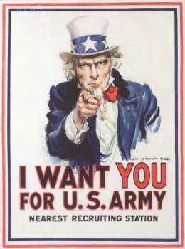 Vintage military enlistment iconic sign