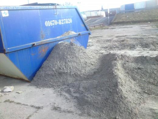 Unknown grey powder dumped