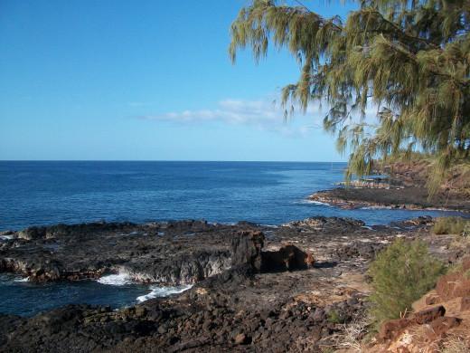 Rocky beach outcroping