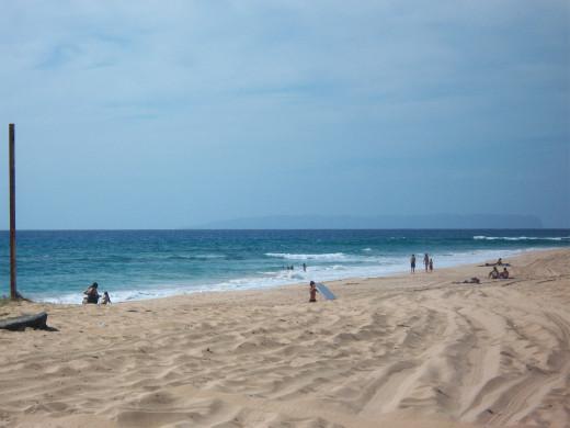 Traditional long, sandy beach