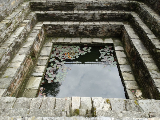 Bramha Kund, the sacred pond in the temple premises