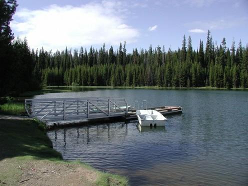 Boating on Jubille Lake