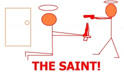 The Saint television show was very popular.