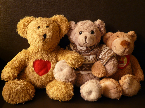 Teddy bear image. Family can help reduce wedding costs