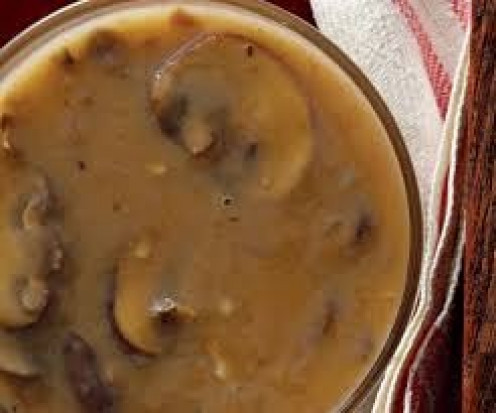 Mushroom gravy is tasty on many dishes including beef and potatoes.