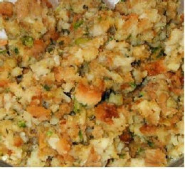 Place prepared stuffing in casserole.