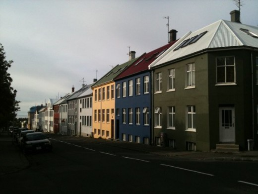 Colourful streets of Iceland