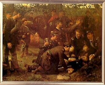 The death of General John Sedgwick.