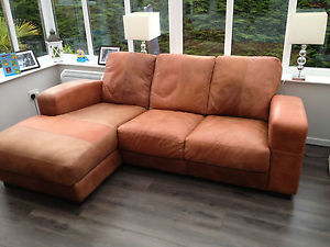 Real NuBuck Leather Sectional