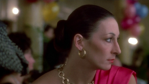 A picture of Anjelica Huston's profile. You're welcome.