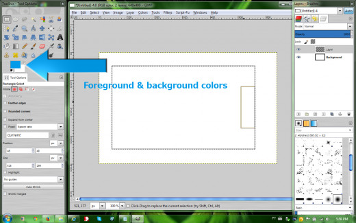 Foreground & background colors box