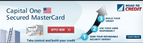 Secured first time credit card