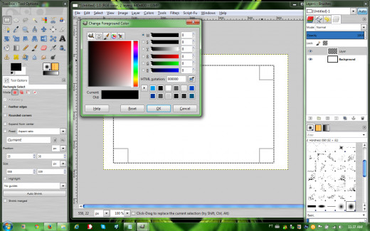 Change Foreground Color box