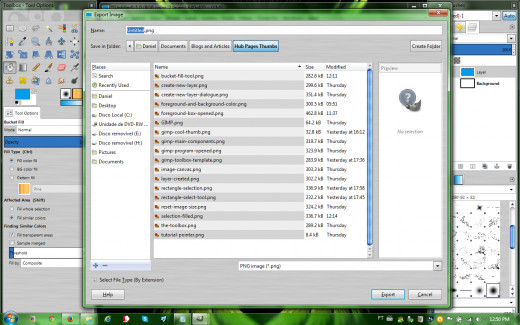 Export image window