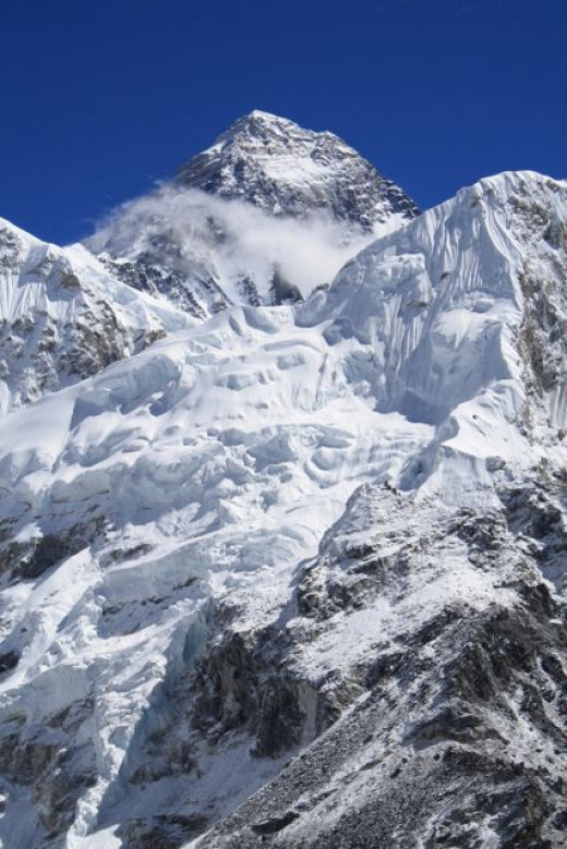 View of Everest from trail to Kala Patthar
