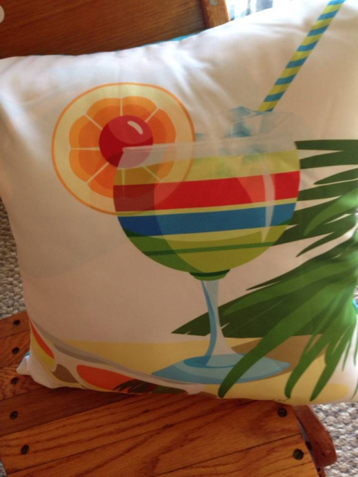 A pillow was the central source for color scheme.