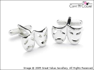Happy and Sad Mask Cuff Links