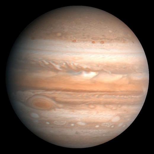 The largest planet, Jupiter.