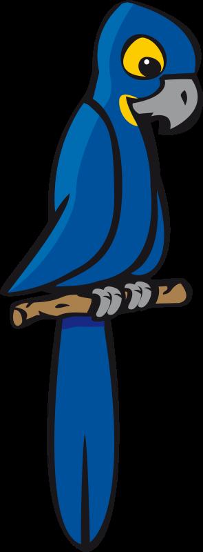 Blue parrot clipart