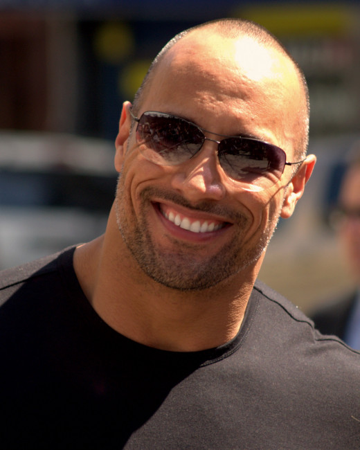 Dwayne Johnson- A man not be messed with. Hollywood's official tough guy.