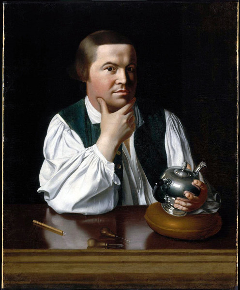 Portrait of Paul Revere, 1768.
