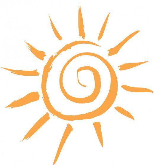 Summer solstice solar symbol.