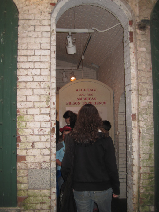 Entering one of the subterranean display rooms.