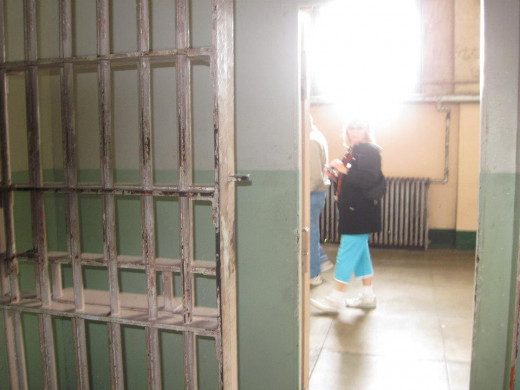 Taken from inside one of the solitary cells.