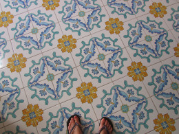 And the tiled floor.....