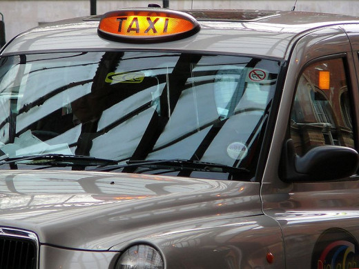 London cabs. Look for the orange light!