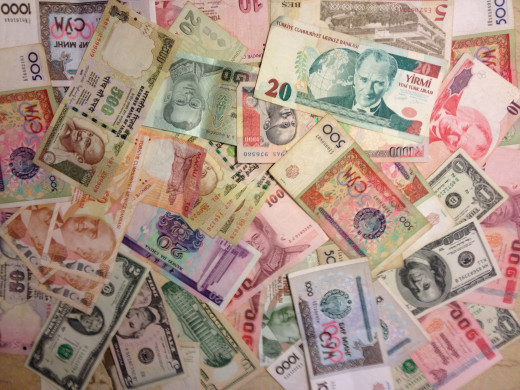 Cash in foreign currency is easy to carry, but not safe.