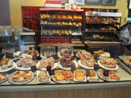 Pastry showcase at Panera Bread