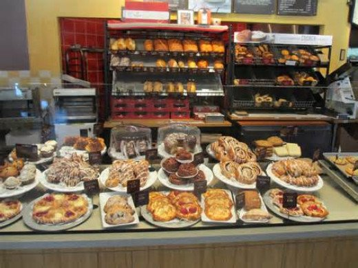 Pastry showcase at Panera Bread