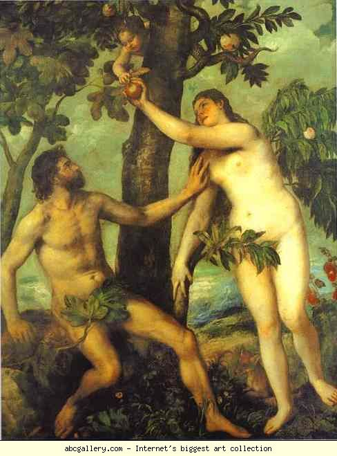 Adam and Eve, Titian (1488/90-1576)