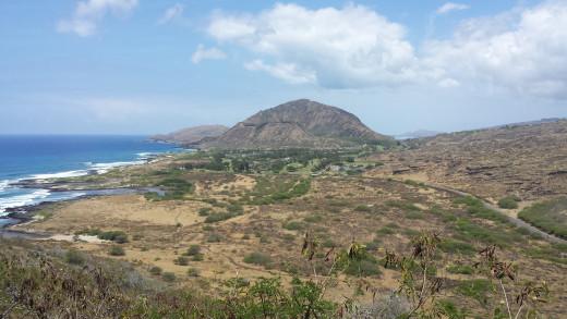 Here is Eastern Oahu from the Makapu'u Light House trail.