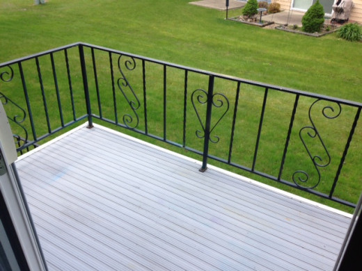 The petite deck before decorating and after cleaning.