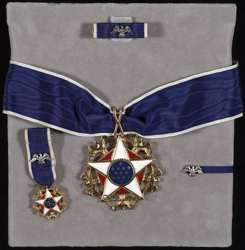 Presidential Medal of Freedom, with components.