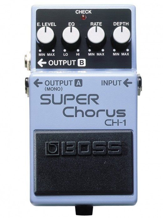 The Boss Super Chorus is an essential guitars effects pedal.