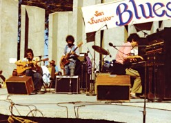 Bloomfield (at left) in 1976