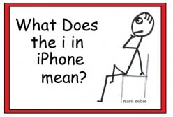 What does the i in iPhone mean?